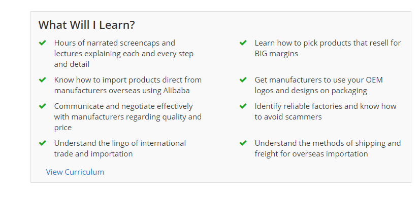 importing from China course