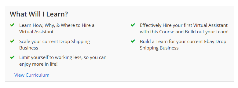 dropshipping on ebay course